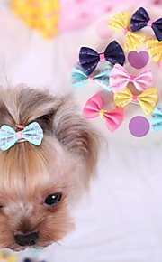 Cat Dog Hair Accessories Hair Bow Dog Clothes Cosplay Wedding Dark Blue Yellow Rose Blue Pink Costume For Pets