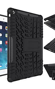 etui na apple ipad mini 4/3/2/1 ipad 4/3/2 air 2 ipad odporne na wstrząsy powietrzne z podstawą back cover solid color twardy silikon do ipad (2017)