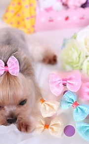 Cat Dog Hair Accessories Hair Bow Dog Clothes Cosplay Wedding Yellow Blue Pink Costume For Pets