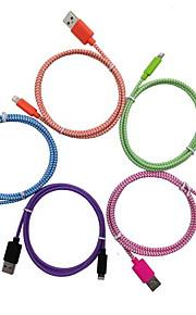 Iluminación Adaptador de cable USB Datos y Sincronización Cable Cargador Cable de Carga Cable Trenzado Cables Cable Para iPad Apple iPhone