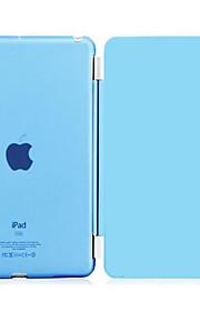 Case Kompatibilitás Apple Állvánnyal / Automatikus készenlét / ébresztés Héjtok Egyszínű PU bőr mert iPad 4/3/2