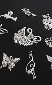 beadia antik sølv metal charm vedhæng guldsmed sommerfugl fugl&kran DIY smykker vedhæng