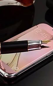 fodral Till Samsung Galaxy Samsung Galaxy-fodral Spegel Lucka Fodral Ensfärgat PC för S6 edge plus S6 edge S6 S5