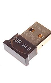 Bluetooth V4.0 Mini Adapter  Square Shape  Black