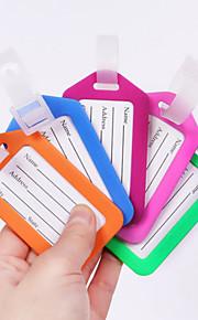 1 stuks Bagagelabel waterdicht Kindtracker Bagage-accessoire voor waterdicht Kindtracker Bagage-accessoire PP (polypropyleen) - Geel Rood