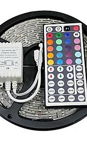 RGB-lysstriper 300 LED RGB Fjernkontroll Kuttbar Fargeskiftende Selvklebende DC 12V DC 12 V