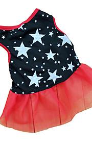 Katze Hund Kleider Hundekleidung Sterne Schwarz Terylen Kostüm Für Haustiere Damen Lässig/Alltäglich