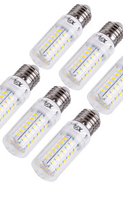 YouOKLight 6pcs 15 W 1350 lm E14 E26 / E27 LED Λάμπες Καλαμπόκι T 56 LED χάντρες SMD 5730 Διακοσμητικό Θερμό Λευκό Ψυχρό Λευκό 220-240 V 110-130 V / 6 τμχ / RoHs