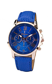 Mulheres Relógio de Moda Quartzo PU Banda Preta Branco Azul Roxa