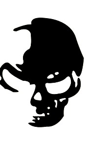 ZIQIAO Reflective Sneak Ghost Rider Skull Car Stickers Car Decals Styling Car Accessories