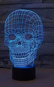 1 stk 3D nattlys Mulighet for demping Usb Mangefarget Plast 1 Lampe Ingen Batterier Inkludert 23.0*17.0*4.5cm