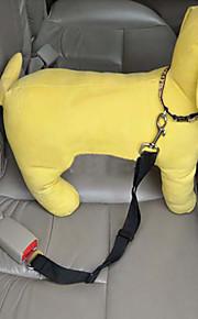 Собака Поводки Ремень безопасности Безопасность Для машины Регулируется Нейлон Черный Лиловый Красный Синий Розовый
