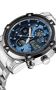 ASJ Herre Quartz Digital Digital Watch Armbåndsur Kjoleur Sportsur Japansk Kronograf Vandafvisende Selvlysende i mørke Stopur Dobbelte