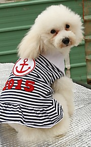 2016 Lovely Summer Blue Red Navy Style Stripe Design Dogs Dress Pets Clothing for Pets Dog Skirts