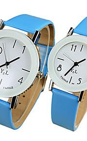 YAZOLE Casal Quartzo Relógio de Pulso / Venda imperdível PU Banda Casual Legal Preta Branco Azul Vermelho Marrom Rosa Amarelo