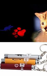 Brinquedos de Laser Electrónico camundongo Pegada Alumínio Para Gato Cachorro