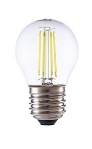 E26/E27 LED-glødepærer P45 4 leds COB Varm hvit Kjølig hvit 350/400lm 6500/2700K AC 220-240V