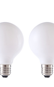 E26/E27 LED-glødepærer G80 4 leds COB Varm hvit 450lm 2700K AC 220-240V