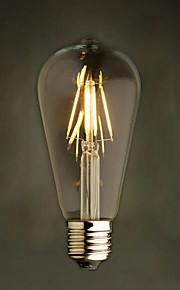 Amber 2W Edison Style 2200K ST64 Ceramic Led Filament Bulb E27