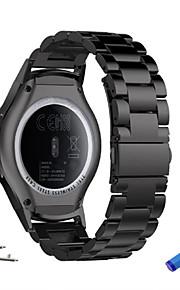 Watch Band varten Gear S3 Frontier Gear S3 Classic Samsung Galaxy Urheiluhihna Metalli Ruostumaton teräs Rannehihna