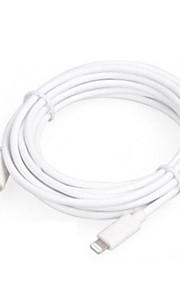 Verlichting USB kabeladapter Data & Synchronisatie Oplaadkoord Oplaadkabel Koord Normaal Kabels Kabel Voor iPad Apple iPhone 150 cm Kumi