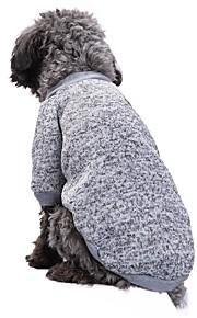Katze Hund Mäntel T-shirt Pullover Hundekleidung Solide Rot Grün Rosa Hellblau Blau und Marineblau Polar-Fleece Baumwolle Kostüm Für