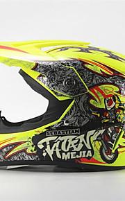 mejia off-road wyścigi motocyklowe kask połysk żółty pełna twarz tłumienie trwały kask motorsport