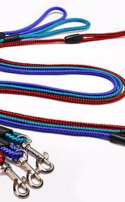 Собака Поводки Поводок-удавка Регулируется / Выдвижной Красный Синий Цвет в случайном порядке Темно-зеленый