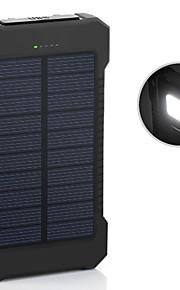 6000mAh noodoplader externe batterij 5V 1.0A 2.0AA Oplader Zaklamp Meerdere uitgangen Zonne-energielader Super plat Automatische