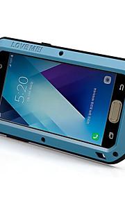 Etui Käyttötarkoitus Samsung Galaxy A5(2017) A3(2017) Vedenkestävä Iskunkestävä Suojakuori Yhtenäinen väri Kova Metalli varten A3 (2017)