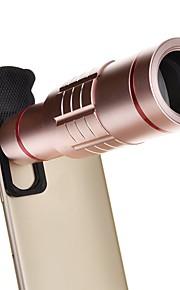 18X Universal Aluminum Optical Zoom with Mini Tripod Smartphone Metal Telescope Long Focus Lens -Pink