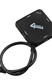 Cqt-304 hub usb 3.0 super velocidad 4 puertos con cable de 0.15m