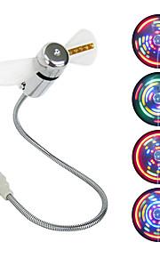 Ventilador llevado mini ventilador del usb con 64 exhibición circular llevada colorida de los patrones