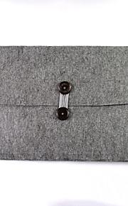 Wol vilt laptop notebook tassen kabinet tassen voor appel 15,4 inch macbook