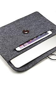 Houten gesp gevoelde tablet pc zak gevoer met deken liner 15 inch