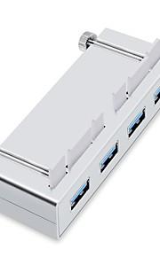 Rocketek USB 3.0 HUB 4 Ports High Speed 5Gbps USB Splitter With Power Charging Interface For iMac Slim Unibody USB3-4P-iMac