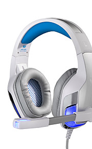 G5300 Sobre oreja Cinta Con Cable Auriculares Armadura equilibrada Acero inoxidable De Videojuegos Auricular Aislamiento de ruido