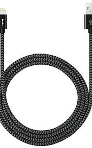 Benks® 180cm pitkä omena hyväksytty MFI salama USB-kaapeli nylon-punottu nopea kaapeli iPhonelle iPad