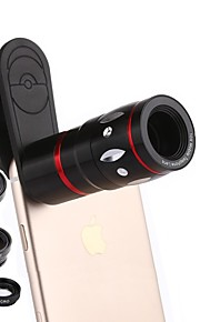 Coiorvis Mobile Phone Lens 12X Telephoto 0.67X Wide Angle 180  Fish Eyes 15X Macro External Lens