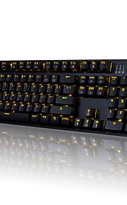 Ajazz-ak52 mechanisch toetsenbord gaming keyboard usb blauw schakelaars enkele kleur backlit