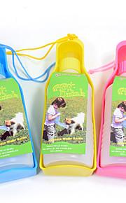 L ネコ 犬 餌入れ/水入れ ペット用 ボウル&摂食 携帯用 イエロー ブルー ピンク