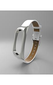 relógio de pulso de couro pulseira pulseira para xiaomi banda de substituição de banda 2 para xiaomi mi banda 2 - branco