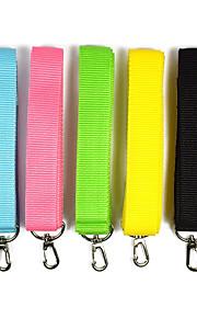 Hond Lijnen draagbaar Effen Nylon Zwart Geel Groen Blauw Roze