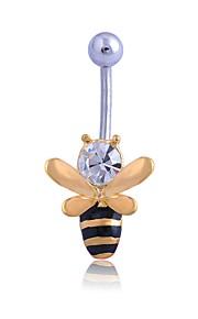 Dame Kropssmykker Navleringe Sexet minimalistisk stil Rhinsten Legering Geometrisk form Smykker Til Forlovelse Stadie
