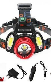 Lanternas de Cabeça Farol Dianteiro LED 3000 lm 4.0 Modo Cree XM-L T6 Cree R2 Portátil Profissional Ajustável Anti-Choque Visão Nocturna