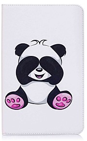 Panda Pattern Card Holder Wallet with Stand Flip Magnetic PU Leather Case for Samsung GALAXY Tab E 9.6 T560 T561 9.6 inch Tablet PC