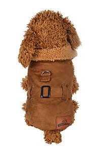 Hond Jassen Hondenkleding Effen Bruin Polyesteri Kostuum Voor huisdieren Heren Dames Casual/Dagelijks