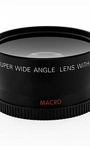 Lente de conversor grande angular de 0,8 milímetros de 58 mm com anexo de macro close-up para cânone
