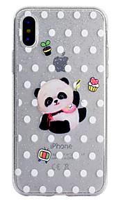 케이스 커버 투명 패턴 다시 커버 케이스 팬더 반짝이 손질 소프트 tpu 애플 아이폰 x iphone 8 plus iphone 8 iphone 7 plus