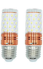 2pcs 12W E27 LED-kornpærer T 60 leds SMD 2835 Varm hvit Hvit Dual Light Source Color 1000lm 3000-3500  6000-6500  3000-6500K AC 220-240V